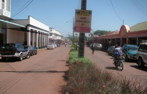 Main Street in Jinja City (Uganda)