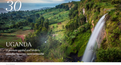 Uganda featured on New York Times 52 Places to Go in 2020