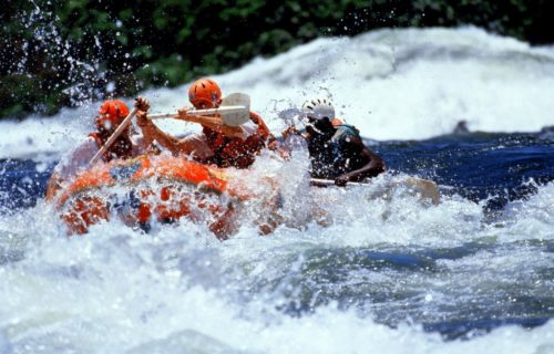 White Water Rafting on the source of Nile