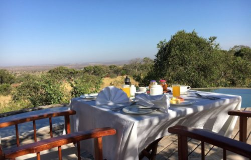 poolside-breakfast -Serengeti Bushtops Camp