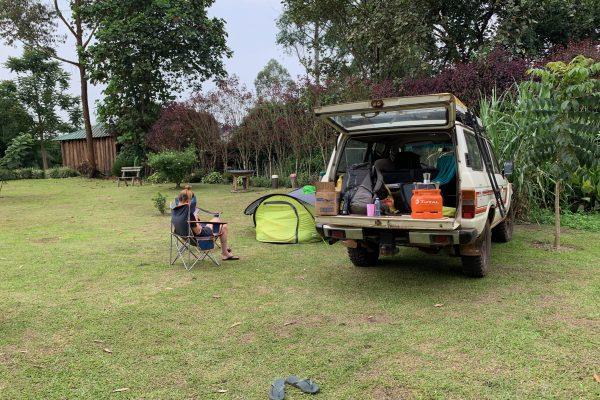 Car rental in Uganda with camping gear
