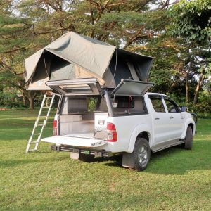 The Hilux can fit 2 rooftop tents and sleep 4 people - Car Rental Kenya