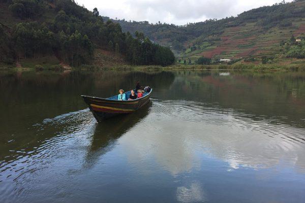 Boat Crusie around Resort @ Lake Bunyonyi